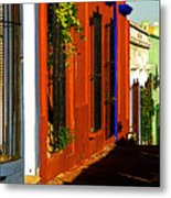 Terracotta House On The Hill Metal Print by Mexicolors Art Photography