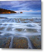 Tesselated Sunset Metal Print by Mike  Dawson