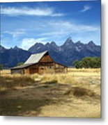 Teton Barn 3 Metal Print by Marty Koch