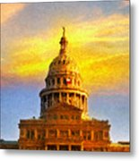Texas Capitol At Sunset Austin Metal Print by Jeff Steed