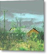 Texas Farm House - Digital Painting Metal Print by Merton Allen