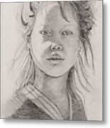 Thai Beauty Metal Print by Nadine Rippelmeyer