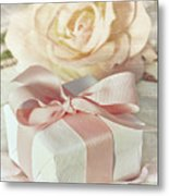 Thank You Gift At Wedding Reception Metal Print by Sandra Cunningham