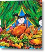 Thanksgiving Day Metal Print by Zaira Dzhaubaeva