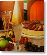 Thanksgiving Table Metal Print by Amanda Elwell