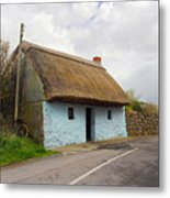 Thatch Roof Cottage Galway Metal Print by Pierre Leclerc Photography