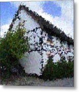 Thatched Country House Impressionist Painting Metal Print by Dawn Hay