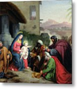 The Adoration Of The Magi Metal Print by Jean Pierre Granger