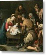 The Adoration Of The Shepherds Metal Print by Bartolome Esteban Murillo