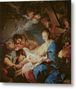 The Adoration Of The Shepherds Metal Print by Charle van Loo