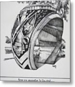 The Aggie Ring Metal Print by Barbara Gilroy