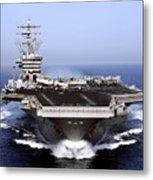 The Aircraft Carrier Uss Dwight D Metal Print by Stocktrek Images