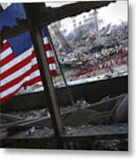 The American Flag Is Prominent Amongst Metal Print by Stocktrek Images