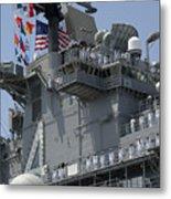 The Amphibious Assault Ship Uss Boxer Metal Print by Stocktrek Images