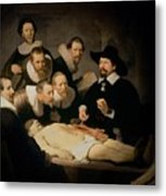 The Anatomy Lesson Of Doctor Nicolaes Tulp Metal Print by Rembrandt Harmenszoon van Rijn
