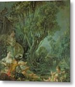 The Angler Metal Print by Francois Boucher