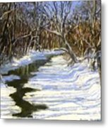 The Assabet River In Winter Metal Print by Jack Skinner