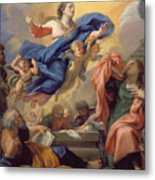 The Assumption Of The Virgin Metal Print by Guillaume Courtois