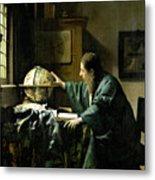 The Astronomer Metal Print by Jan Vermeer