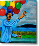 The Balloon Vendor Metal Print by Cyril Maza