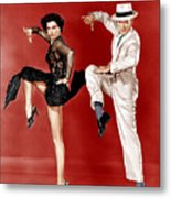 The Band Wagon, From Left Cyd Charisse Metal Print by Everett