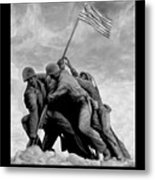 The Battle For Iwo Jima By Todd Krasovetz Metal Print by Todd Krasovetz