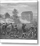 The Battle Of Lexington Metal Print by War Is Hell Store