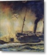 The Battle Of The Gulf Of Riga Metal Print by Mikhail Mikhailovich Semyonov