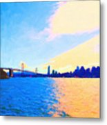 The Bay Bridge And The San Francisco Skyline Metal Print by Wingsdomain Art and Photography