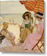 The Beach Metal Print by Alfred Victor Fournier
