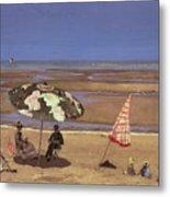 The Beach Metal Print by Etienne Moreau Nelaton