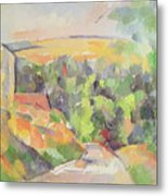 The Bend In The Road Metal Print by Paul Cezanne