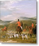 The Berkeley Hunt Metal Print by Francis Calcraft Turner