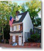 The Betsy Ross House Philadelphia Metal Print by Bill Cannon