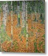 The Birch Wood Metal Print by Gustav Klimt