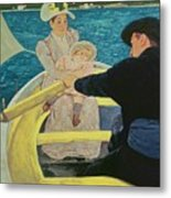 The Boating Party Metal Print by Mary Stevenson Cassatt