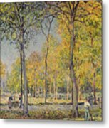 The Bois De Boulogne Metal Print by Alfred Sisley