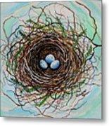 The Botanical Bird Nest Metal Print by Elizabeth Robinette Tyndall