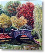 The Bridge At Freedom Park Metal Print by Jerry Kirk