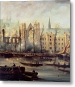 The Burning Of The Houses Of Parliament Metal Print by The Burning of the Houses of Parliament