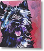 The Caring Cairn Metal Print by Lea S