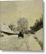 The Cart Metal Print by Claude Monet