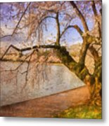 The Cherry Blossom Festival Metal Print by Lois Bryan