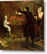 The Child Handel Discovered By His Parents Metal Print by Margaret Isabel Dicksee