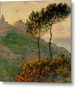The Church At Varengeville Against The Sunlight Metal Print by Claude Monet