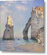 The Cliffs At Etretat Metal Print by Claude Monet