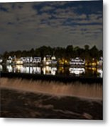 The Colorful Lights Of Boathouse Row Metal Print by Bill Cannon