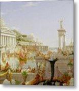 The Course Of Empire - The Consummation Of The Empire Metal Print by Thomas Cole