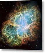 The Crab Nebula Metal Print by Stocktrek Images