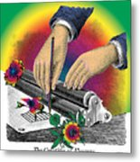 The Creation Of Flowers Metal Print by Eric Edelman